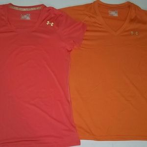 2 Under Armour Heat Gear T-Shirts
